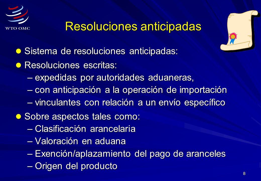 Resoluciones anticipadas