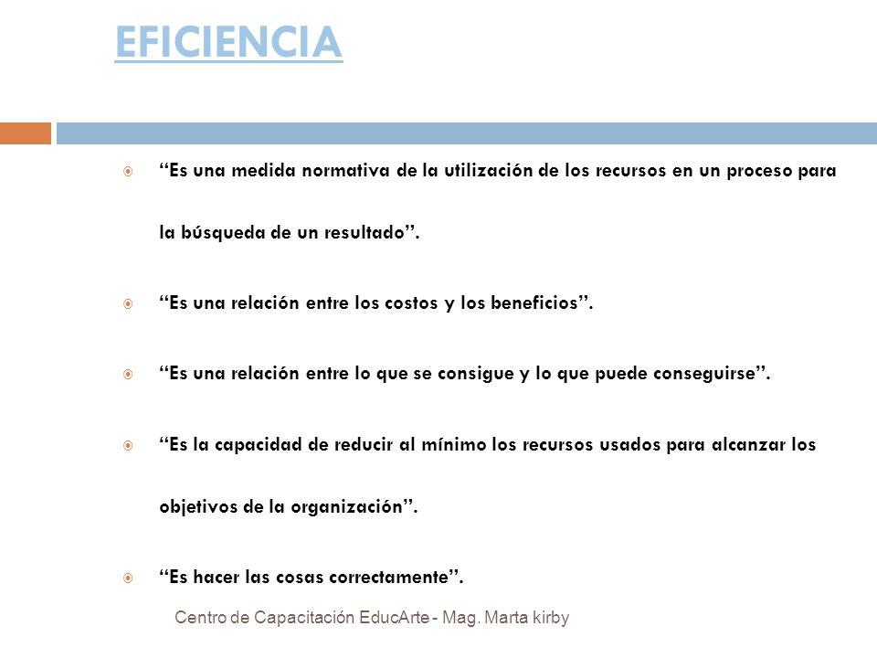 EFICIENCIA Es una medida normativa de la utilización de los recursos en un proceso para la búsqueda de un resultado .