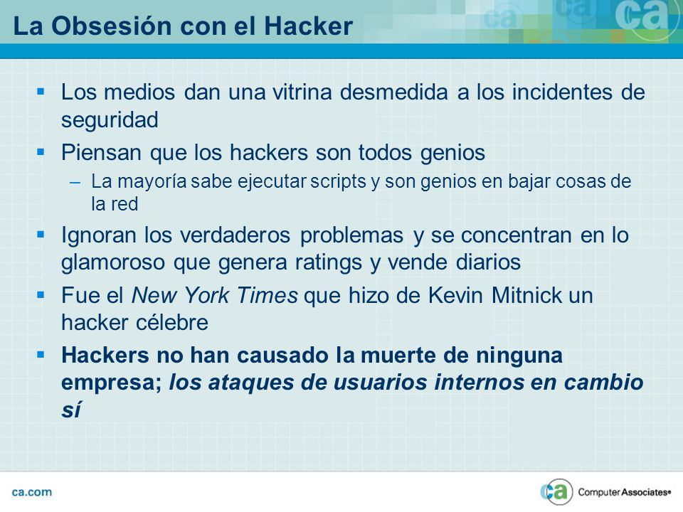 La Obsesión con el Hacker