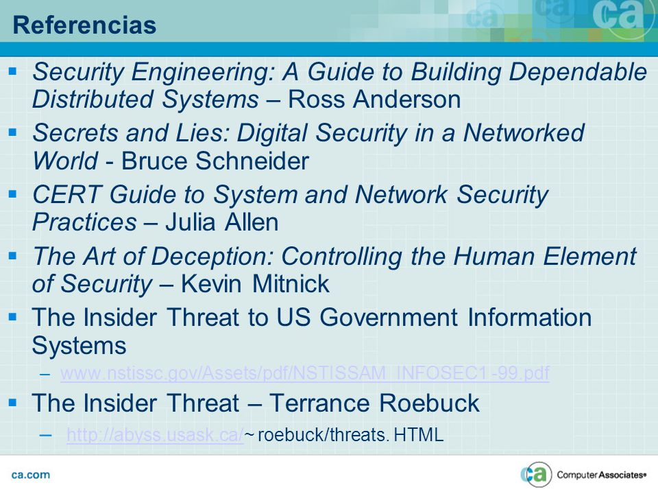 CERT Guide to System and Network Security Practices – Julia Allen