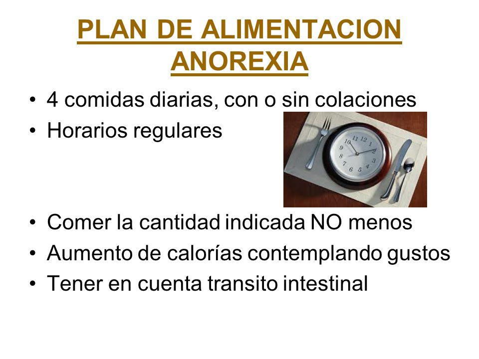 PLAN DE ALIMENTACION ANOREXIA
