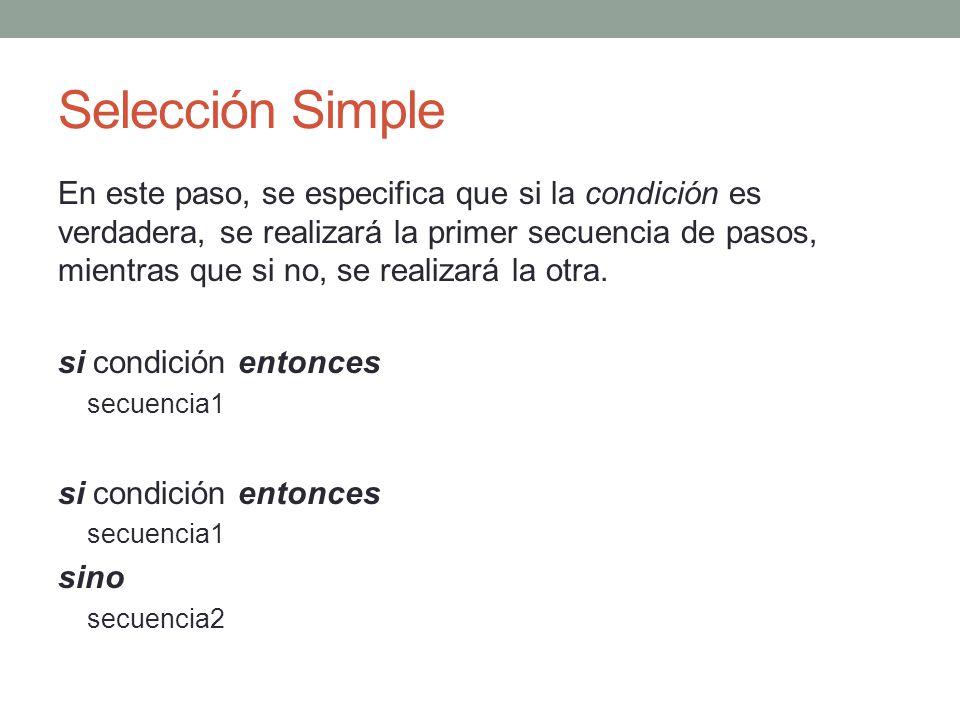 Selección Simple