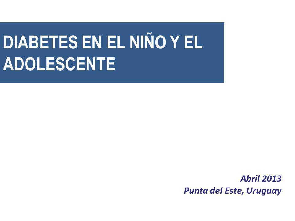 DIABETES EN EL NIÑO Y EL ADOLESCENTE