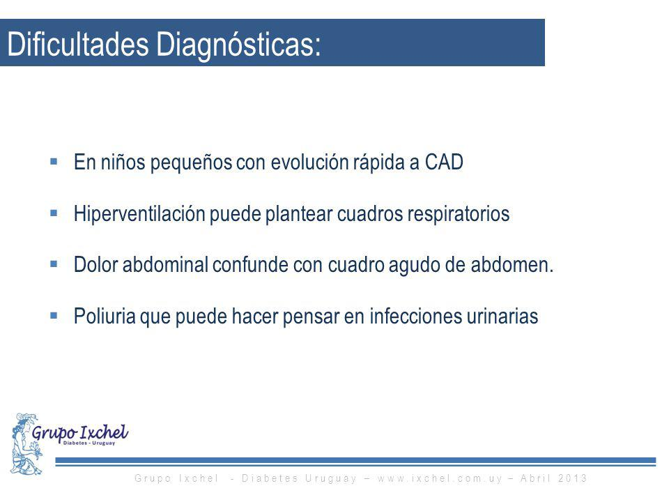 Dificultades Diagnósticas: