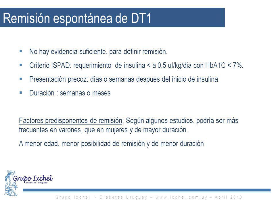 Remisión espontánea de DT1