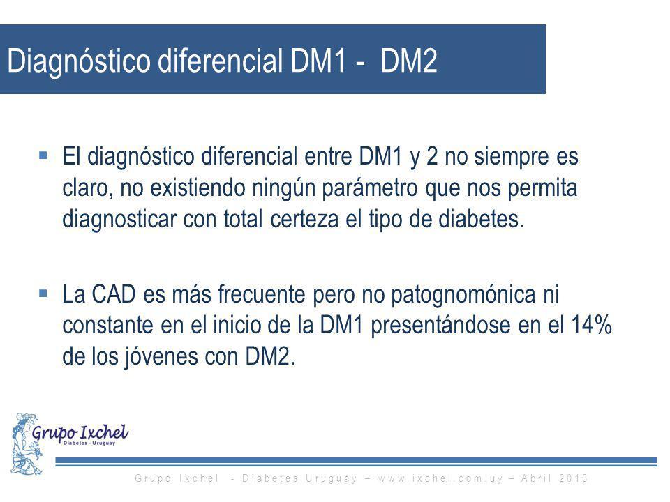 Diagnóstico diferencial DM1 - DM2