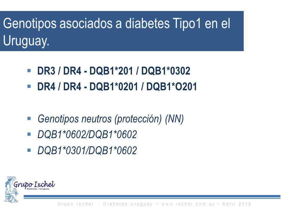 Genotipos asociados a diabetes Tipo1 en el Uruguay.