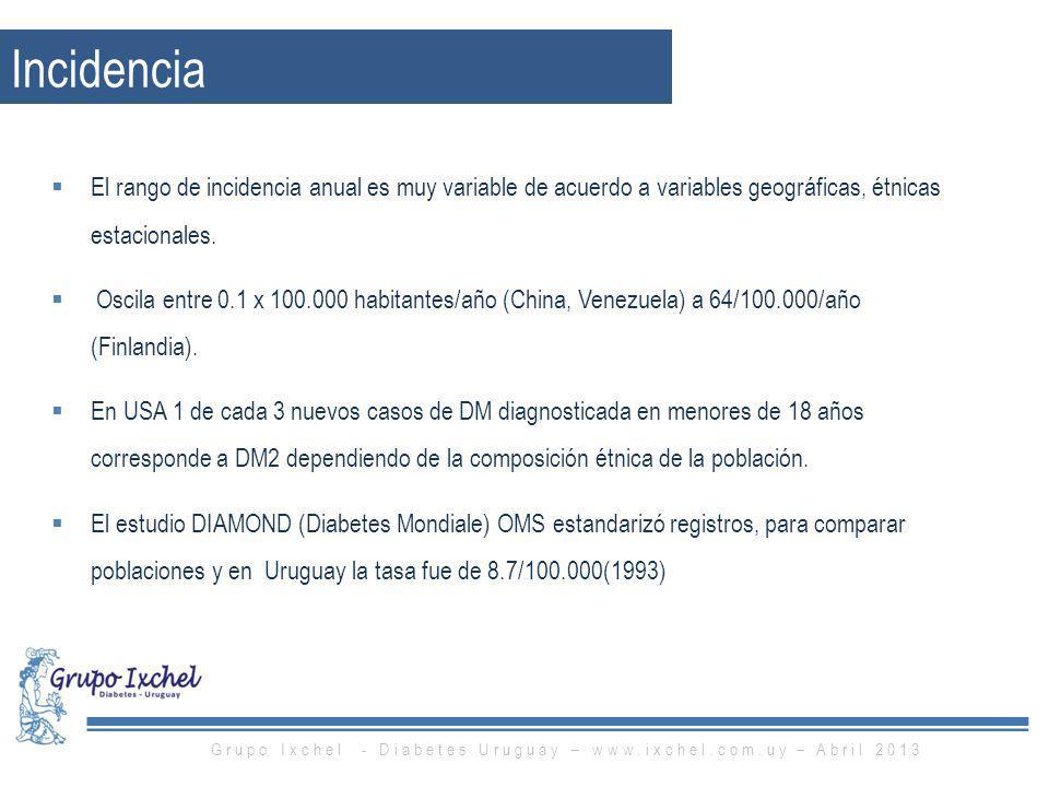 Grupo Ixchel - Diabetes Uruguay – www.ixchel.com.uy – Abril 2013