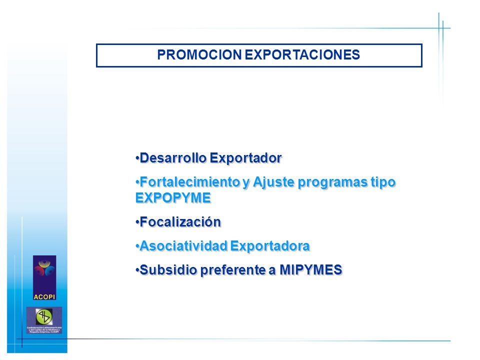 PROMOCION EXPORTACIONES