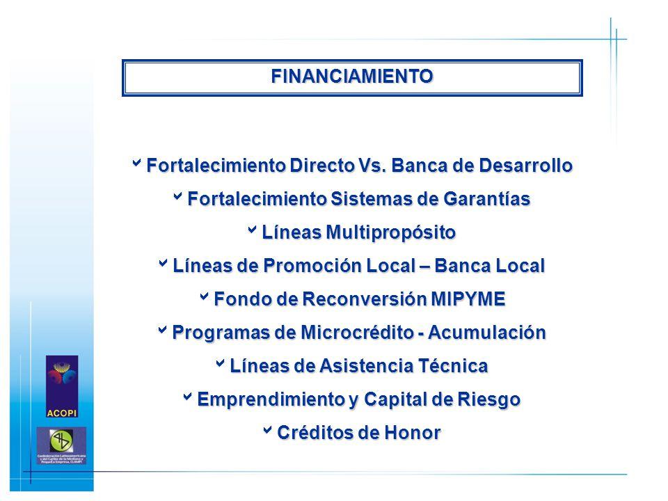 Fortalecimiento Directo Vs. Banca de Desarrollo