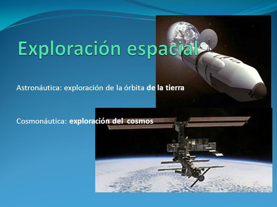 Exploración espacial Astronáutica: exploración de la órbita de la tierra.