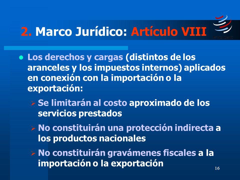 2. Marco Jurídico: Artículo VIII