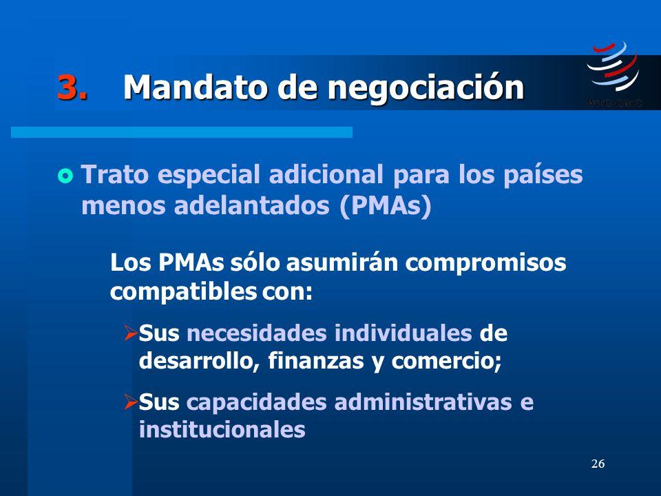 3. Mandato de negociación