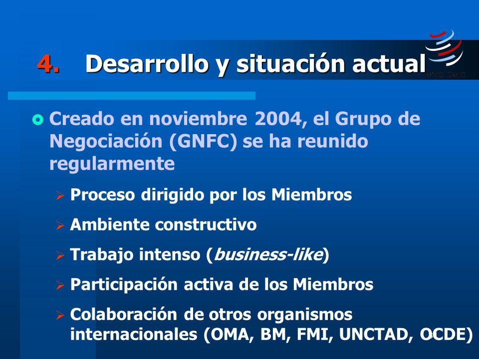 4. Desarrollo y situación actual