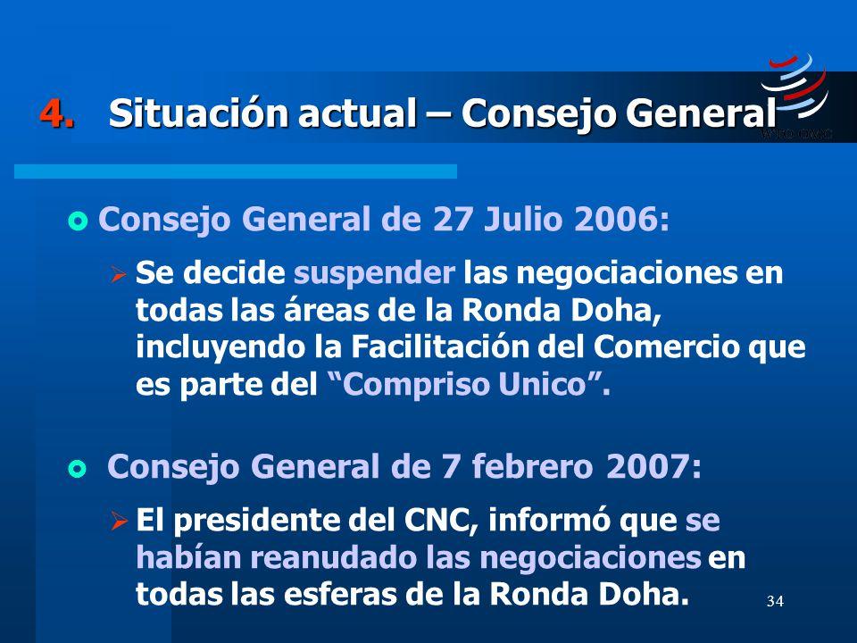 4. Situación actual – Consejo General