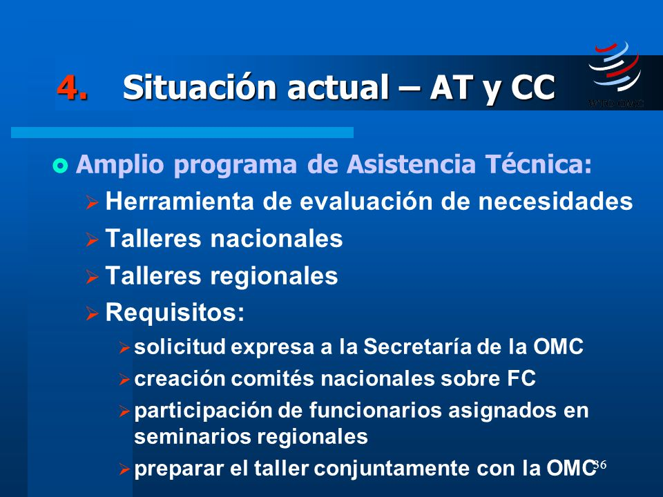 4. Situación actual – AT y CC