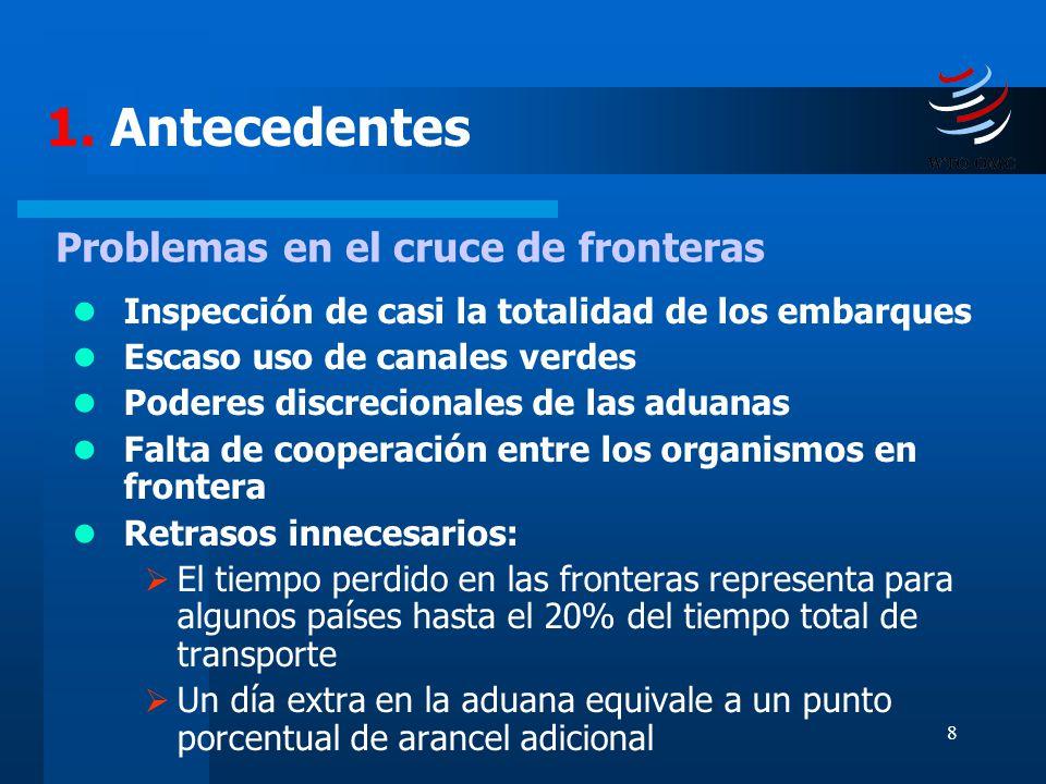 1. Antecedentes Problemas en el cruce de fronteras