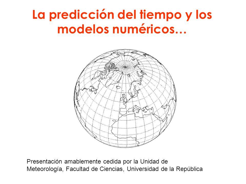 La predicción del tiempo y los modelos numéricos…