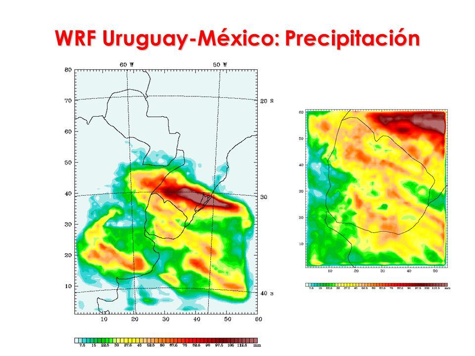WRF Uruguay-México: Precipitación