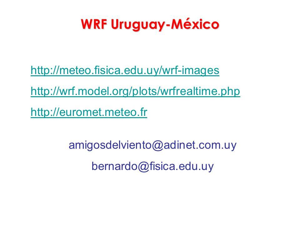 WRF Uruguay-México http://meteo.fisica.edu.uy/wrf-images