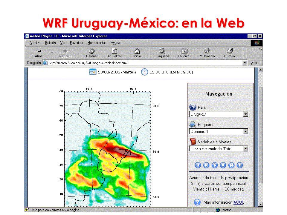 WRF Uruguay-México: en la Web