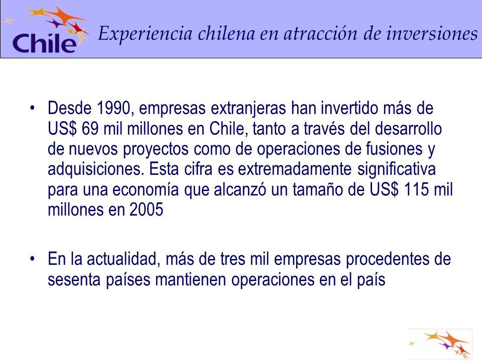Experiencia chilena en atracción de inversiones