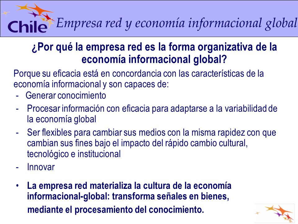 Empresa red y economía informacional global