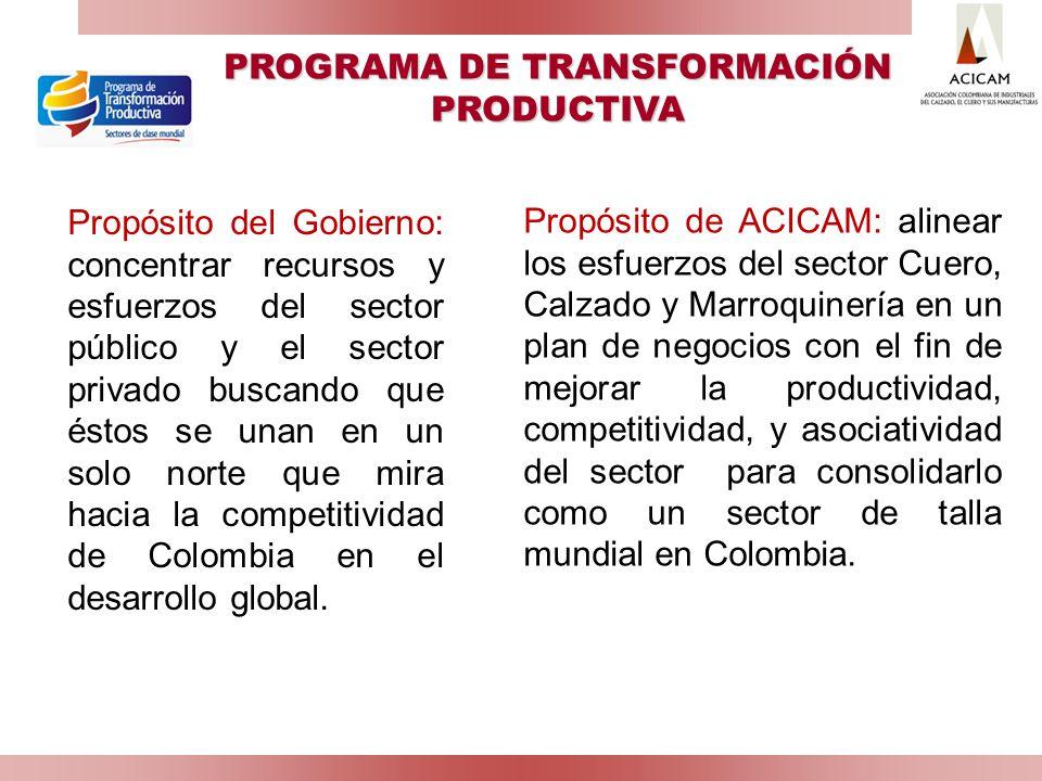 PROGRAMA DE TRANSFORMACIÓN PRODUCTIVA
