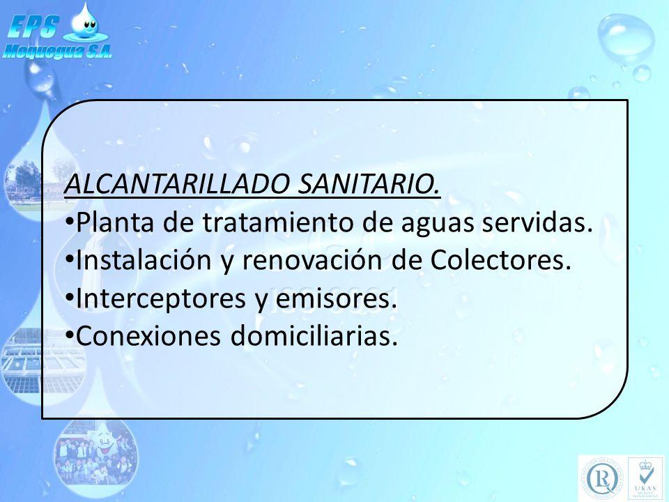 ALCANTARILLADO SANITARIO.