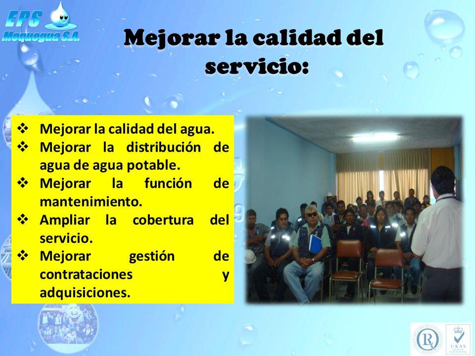 Mejorar la calidad del servicio: