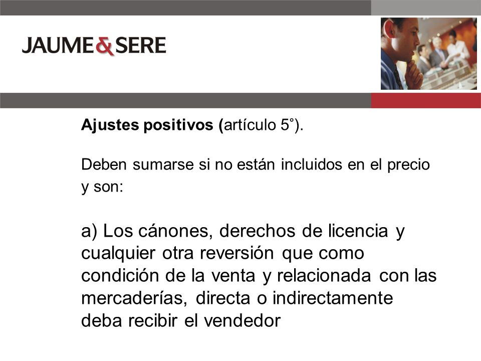 Ajustes positivos (artículo 5°)