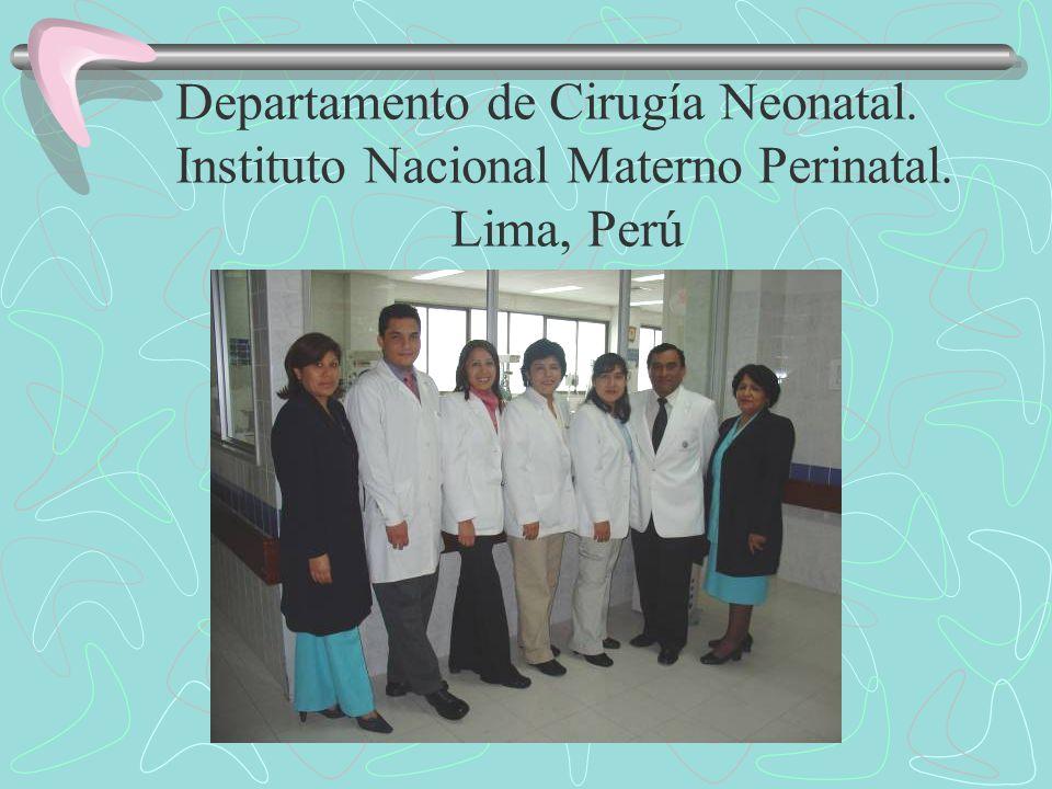 Departamento de Cirugía Neonatal.