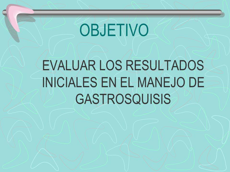 EVALUAR LOS RESULTADOS INICIALES EN EL MANEJO DE GASTROSQUISIS