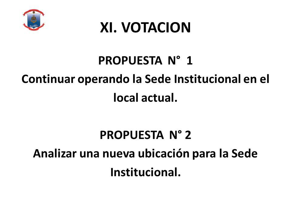 XI. VOTACION