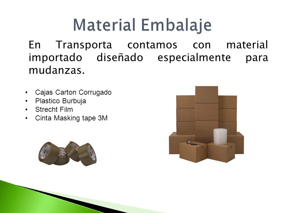 Transportes porta porta sac ppt video online descargar for Material para mudanzas