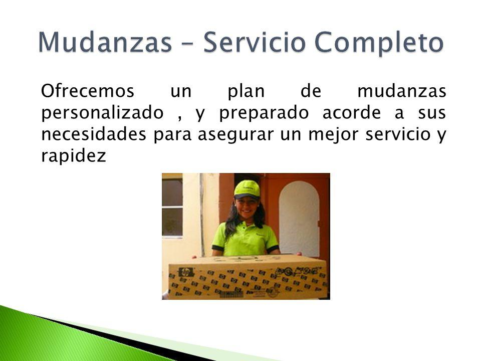 Mudanzas – Servicio Completo