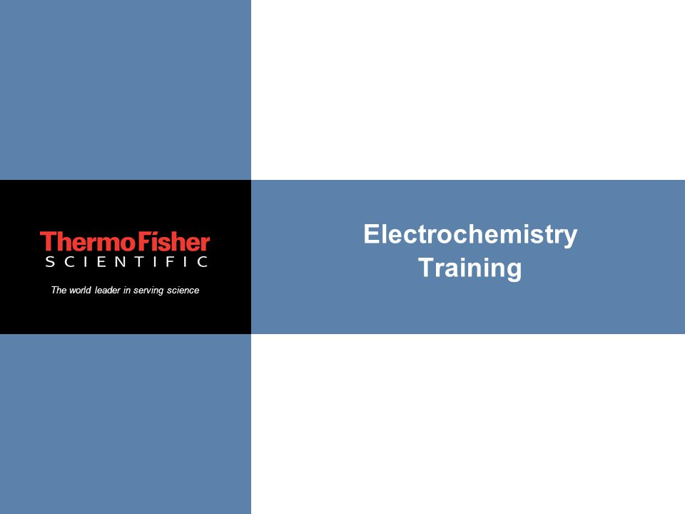 Electrochemistry Training