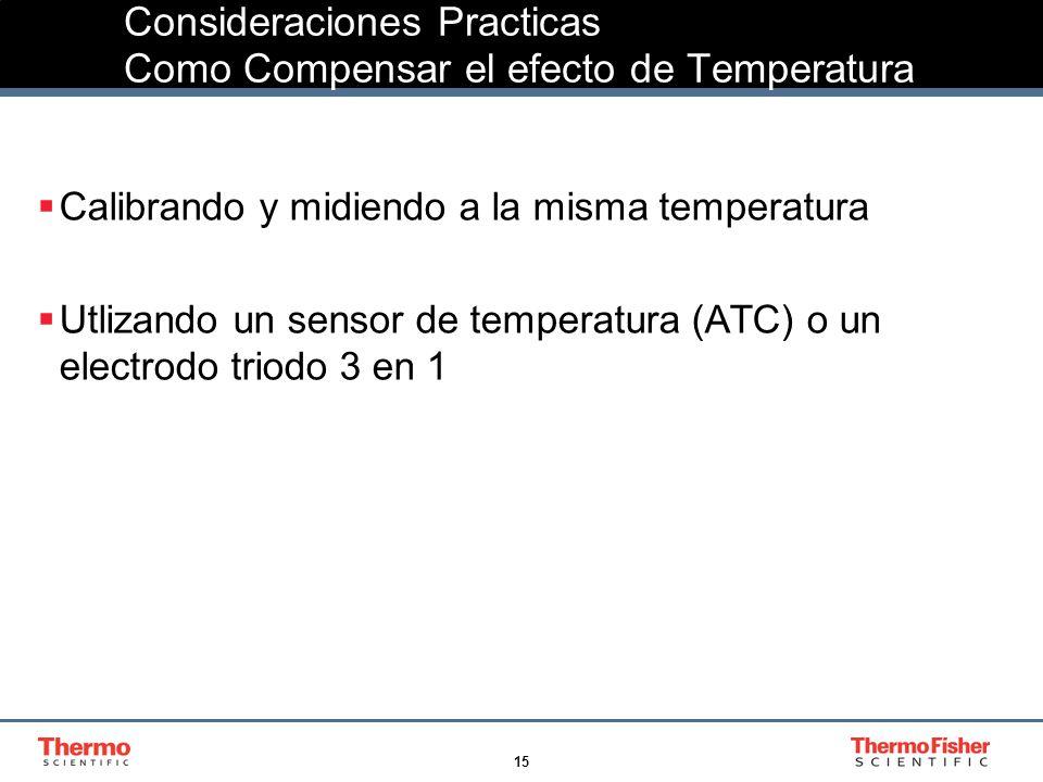 Consideraciones Practicas Como Compensar el efecto de Temperatura