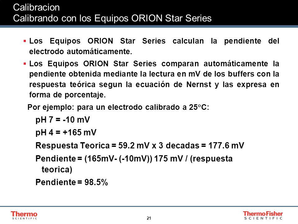 Calibracion Calibrando con los Equipos ORION Star Series