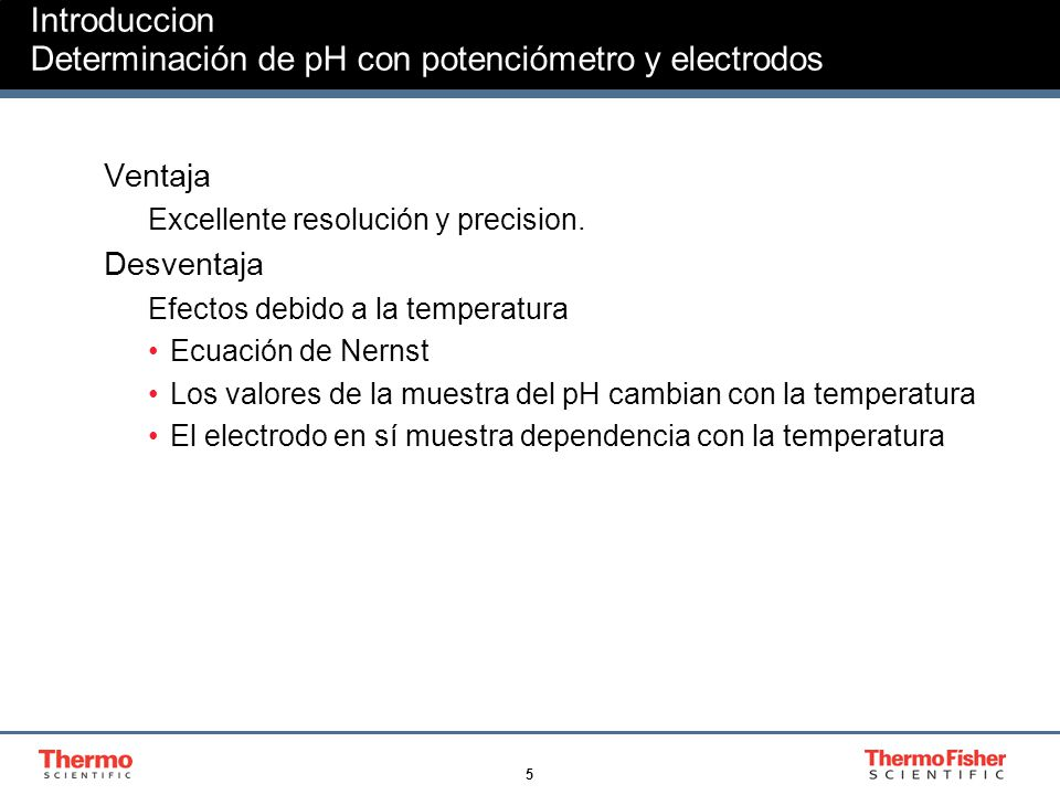 Introduccion Determinación de pH con potenciómetro y electrodos