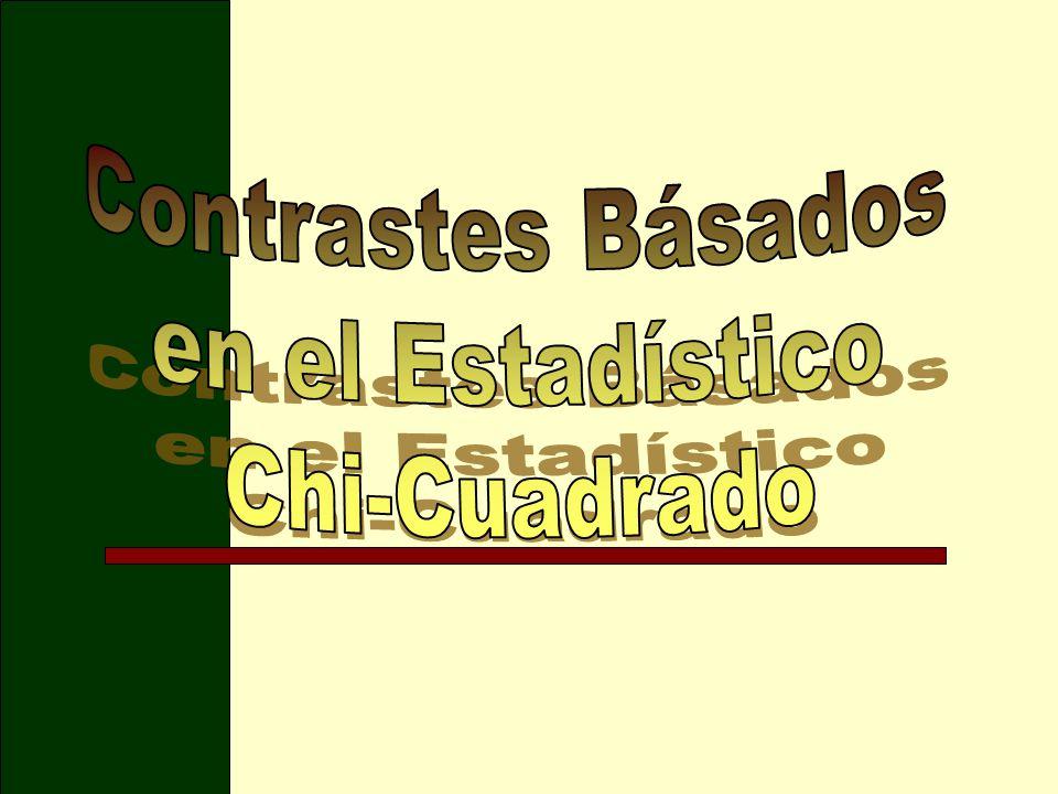 Contrastes Básados en el Estadístico Chi-Cuadrado