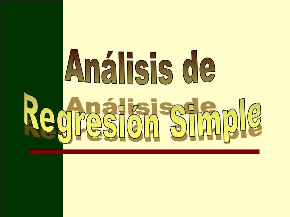 Análisis de Regresión Simple