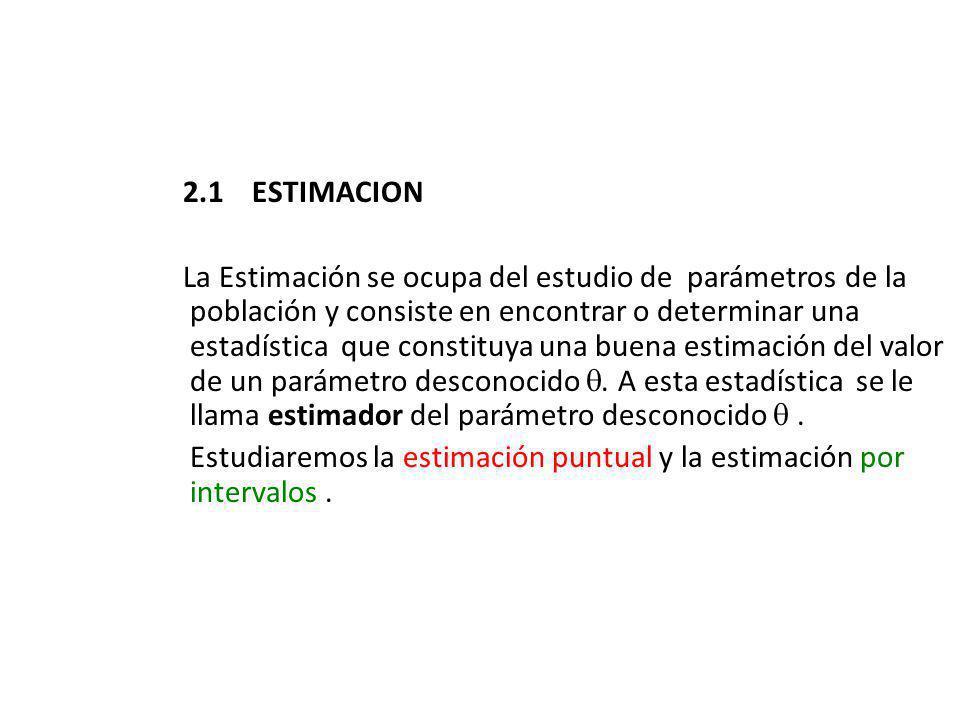 2.1 ESTIMACION