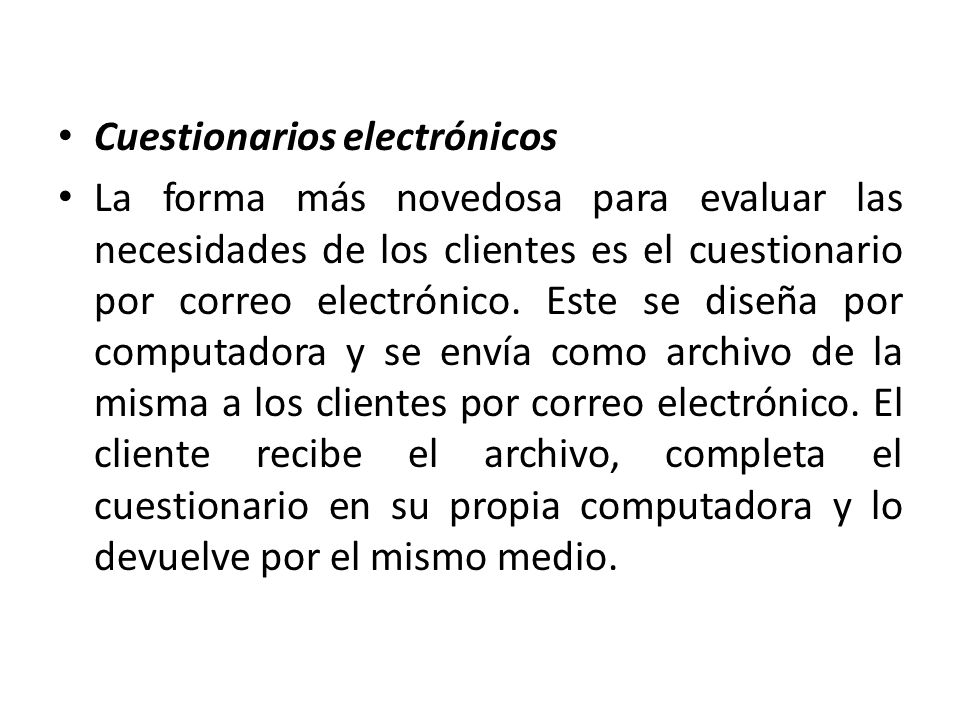 Cuestionarios electrónicos
