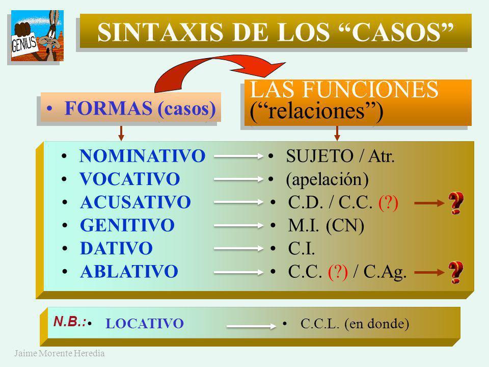 SINTAXIS DE LOS CASOS