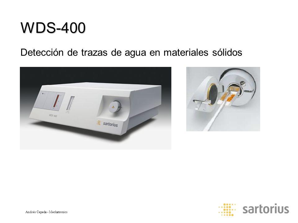 WDS-400 Detección de trazas de agua en materiales sólidos