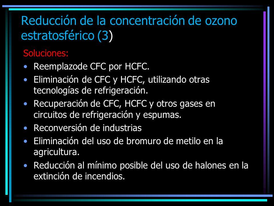 Reducción de la concentración de ozono estratosférico (3)