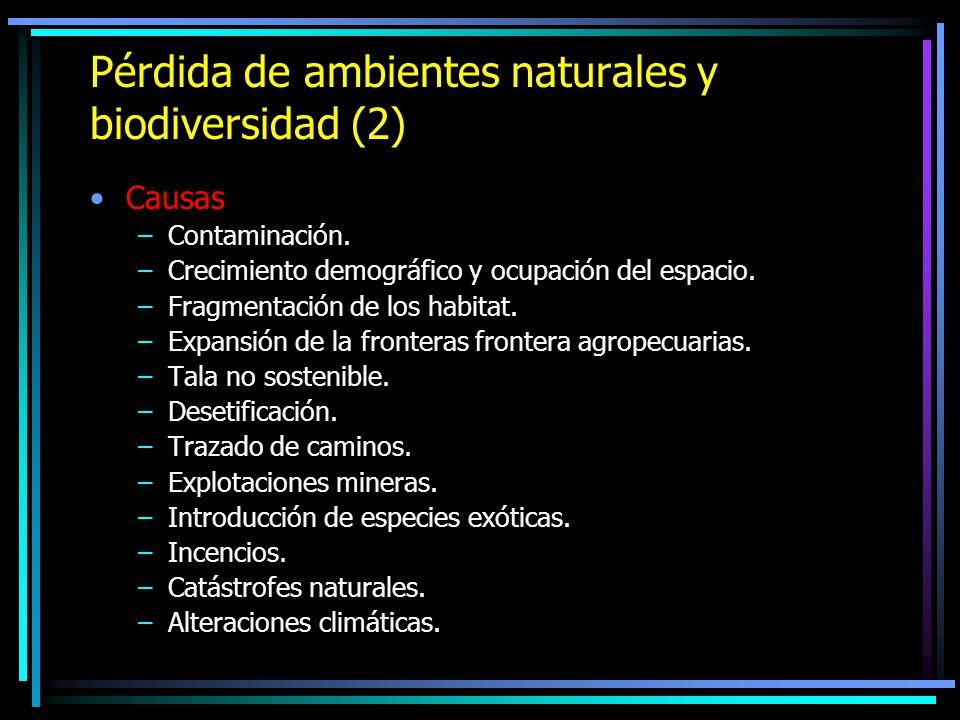 Pérdida de ambientes naturales y biodiversidad (2)