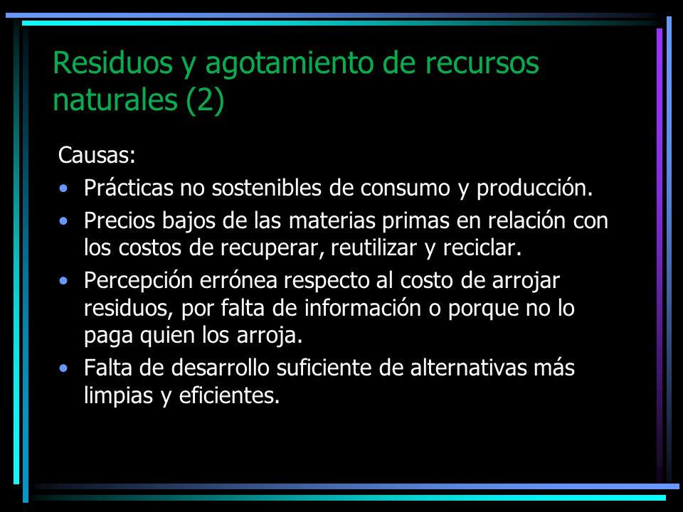 Residuos y agotamiento de recursos naturales (2)