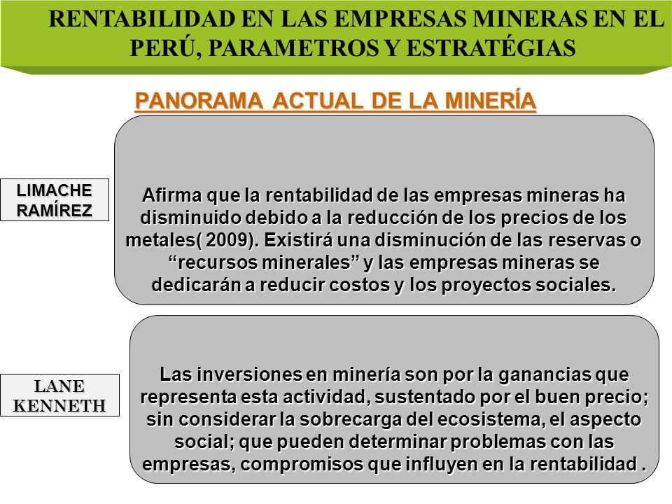 PANORAMA ACTUAL DE LA MINERÍA